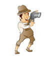 photographer with digital camera vector image