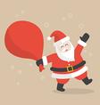 santa claus with big bag full gifts vector image vector image