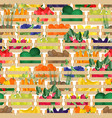 seamless pattern with fresh ripe organic fruits vector image vector image
