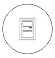 service terminal black icon in circle outline vector image