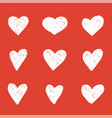 set line for hearts vector image vector image