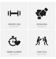 set of 4 editable training icons includes symbols vector image vector image