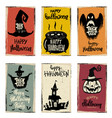 set of halloween banner templates monster vector image vector image