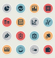 set of simple banking icons vector image vector image