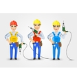 set of three technical electrician or mechanic vector image