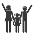 silhouette family mother father daughter together vector image vector image