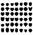 Silhouettes of Shields vector image vector image