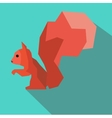 Squirrel abstract vector image vector image