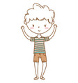 stylish boy cartoon outfit isolated vector image vector image