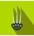 Tekkokagi flat icon vector image vector image
