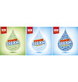 template design laundry detergent package vector image