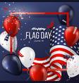 usa flag day holiday design vector image