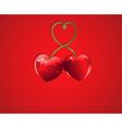 valentine cherry love vector image vector image