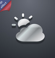 weather icon symbol 3D style Trendy modern design vector image