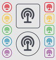 Wifi icon sign symbol on the Round and square vector image