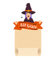 witch craft poster vector image vector image