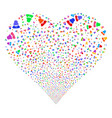 woman fireworks heart vector image vector image