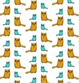 Funny cat pattern vector image