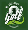 golf ball and clubs logo for t-shirt or sport vector image