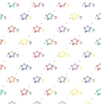 Abstract star pattern vector image vector image