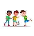 afro american european and asian boys play vector image vector image