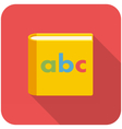 Alphabet book icon vector image vector image