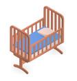 baby crib icon isometric style vector image