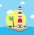 beach lighthouse seashore view vector image