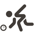 bowling icon vector image vector image