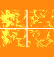 bright orange abstract comic page background vector image
