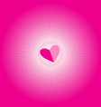 bright pink festive background with hearts and vector image vector image