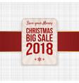 christmas big sale festive banner element vector image vector image