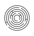 Circle Ring Maze on White Background vector image vector image