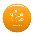 clostridium tetani icon orange vector image vector image