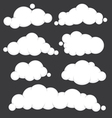 Clouds blue set vector image vector image
