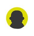 colorful avatar user social profile person vector image