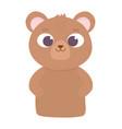 cute animal little bear teddy cartoon icon vector image