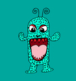 cute monster cartoon vector image vector image