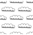 decorative clouds black and white vector image vector image