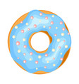donut icon sweet doughnut tasty pastry with vector image