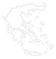 dot stroke greece map vector image