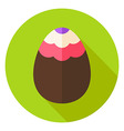 Easter Egg with Wave Ornament Circle Icon vector image vector image