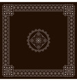 eastern style square vector image