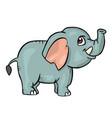 elephant on white background cute cartoon animal vector image
