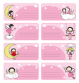 Fairy labels vector image vector image