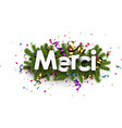 festive thank you background french vector image vector image