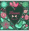 floral heart frame made flowers vector image vector image