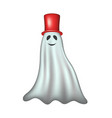 ghost with red hat vector image