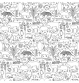 Hand drawn South America seamless pattern vector image vector image