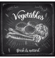 Hand drawn with vegetables vector image